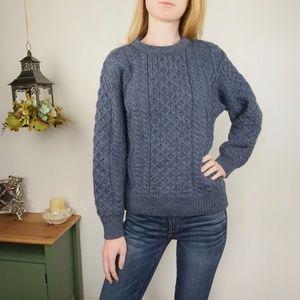 Aran Crafts 100% Wool Sweater Chunky Winter sz XS